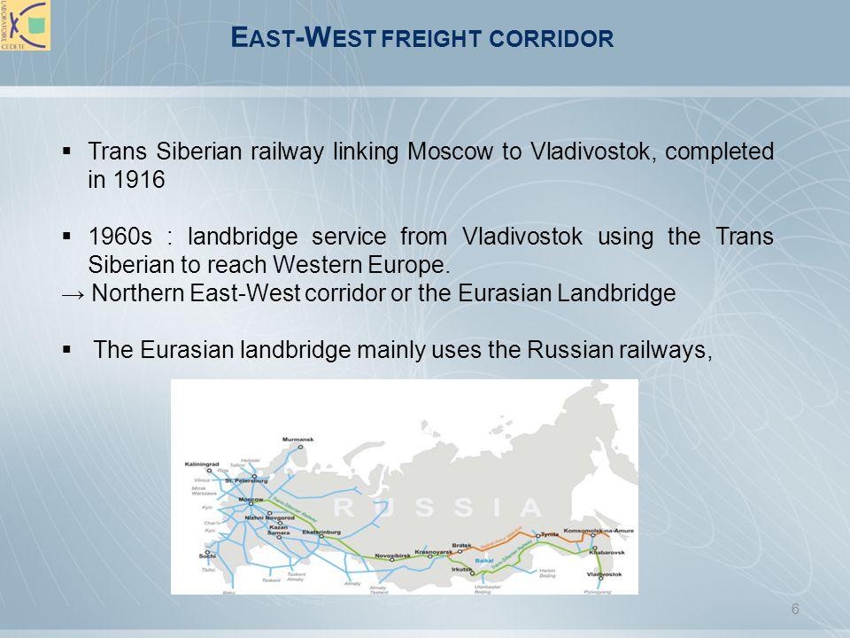 East-West freight corridor