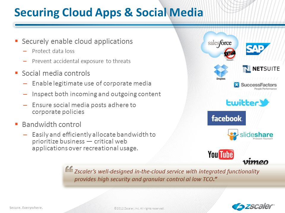 Securing Cloud Apps & Social Media