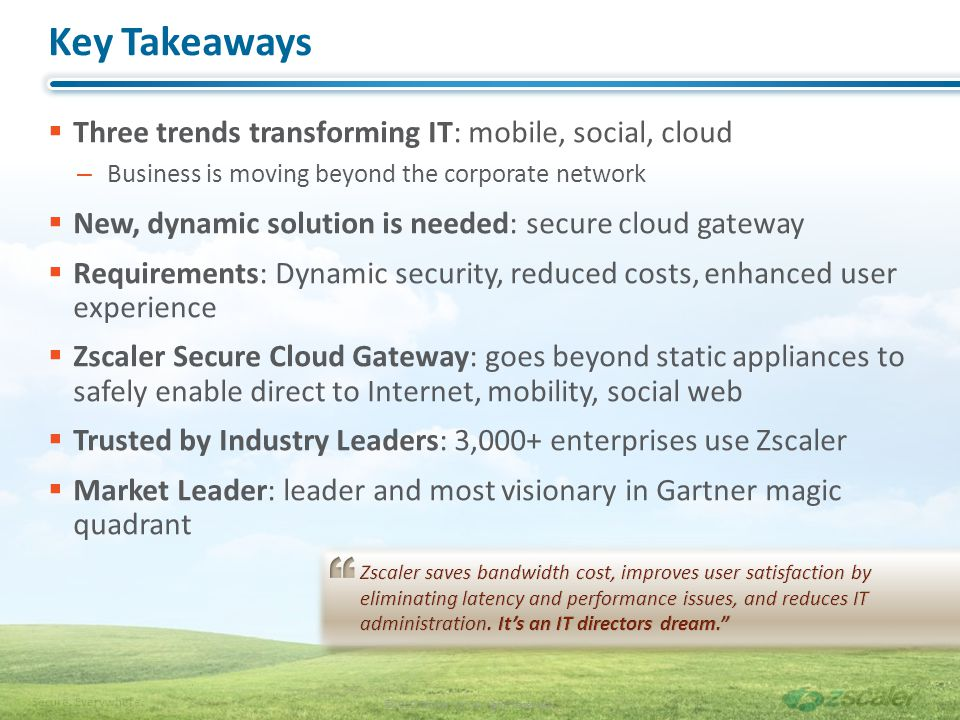 Key Takeaways Three trends transforming IT: mobile, social, cloud