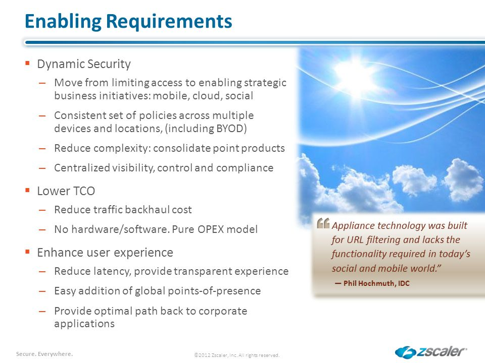 Enabling Requirements