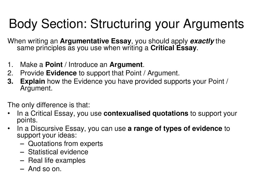 Essay examples for structuring argumentative essay