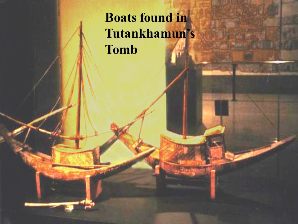 Boats found in Tutankhamun's Tomb