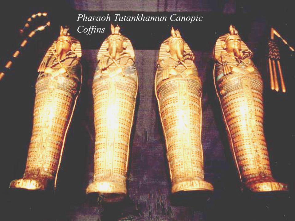 Pharaoh Tutankhamun Canopic Coffins