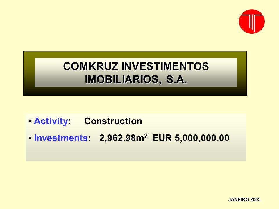 COMKRUZ INVESTIMENTOS IMOBILIARIOS, S.A.