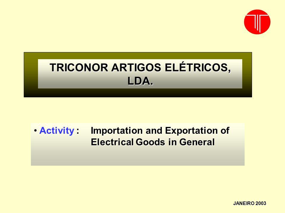 TRICONOR ARTIGOS ELÉTRICOS, LDA.