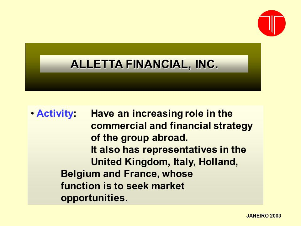 二○一七年四月二日星期日 ALLETTA FINANCIAL, INC.