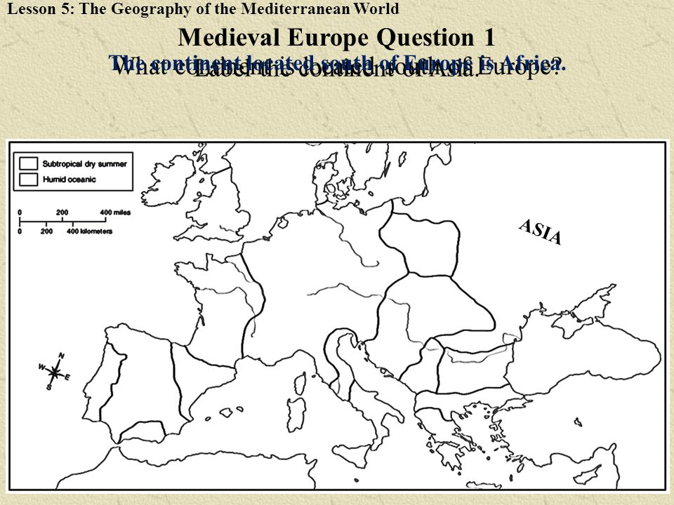 Medieval Europe Question 1
