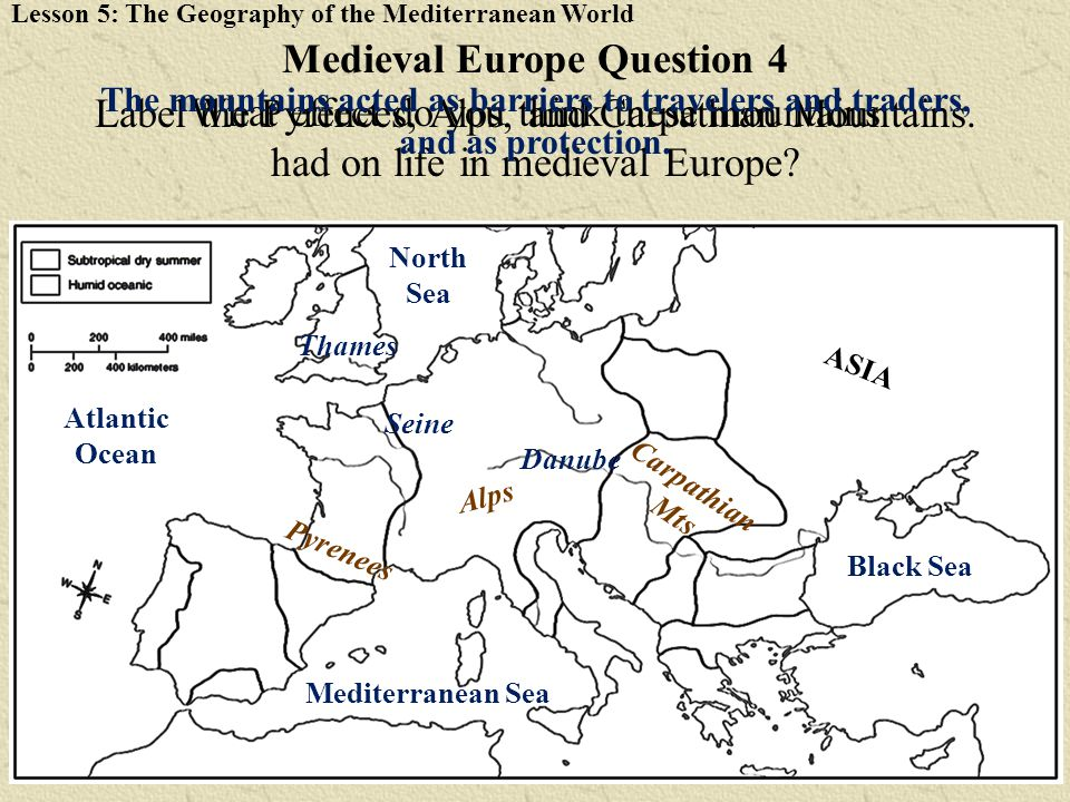 Medieval Europe Question 4