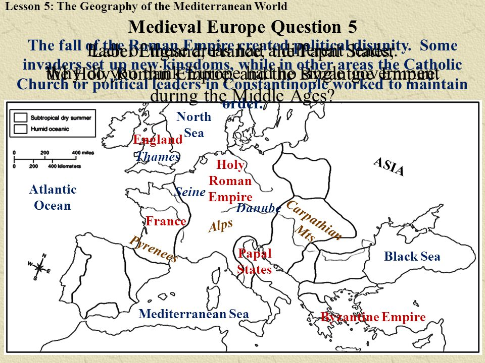 Medieval Europe Question 5