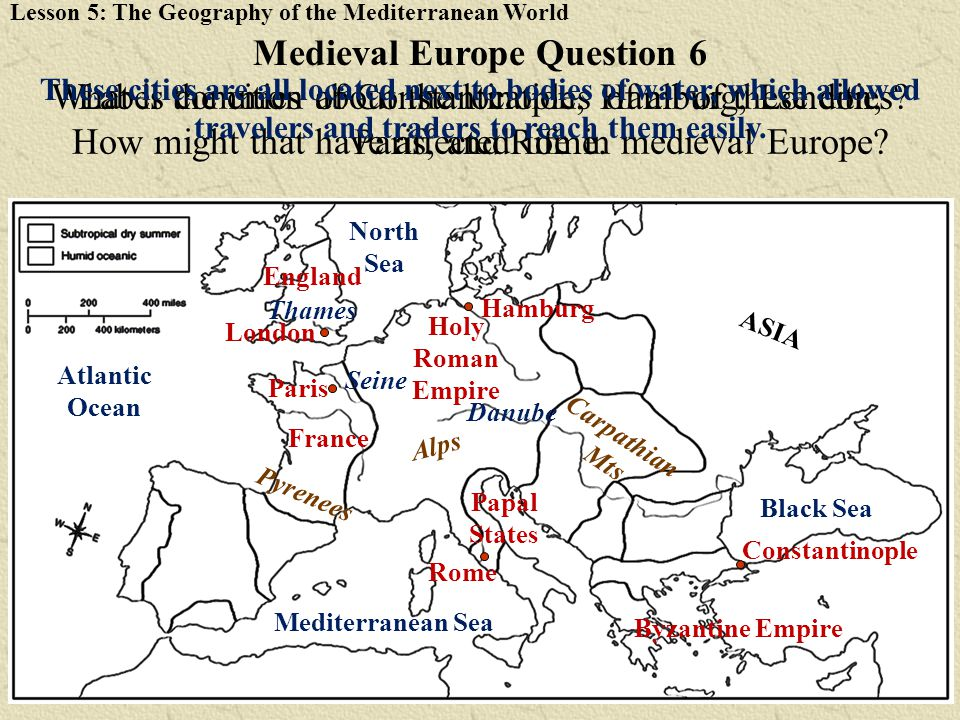 Medieval Europe Question 6