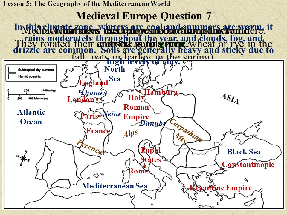 Medieval Europe Question 7