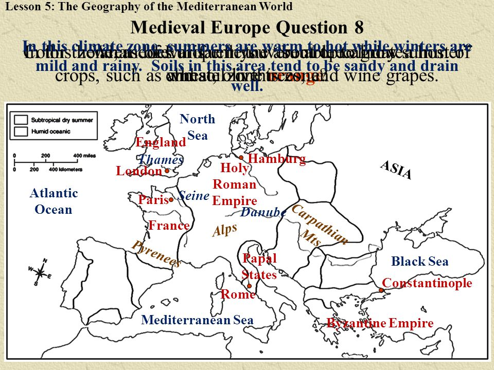 Medieval Europe Question 8
