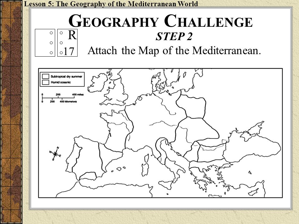 Attach the Map of the Mediterranean.