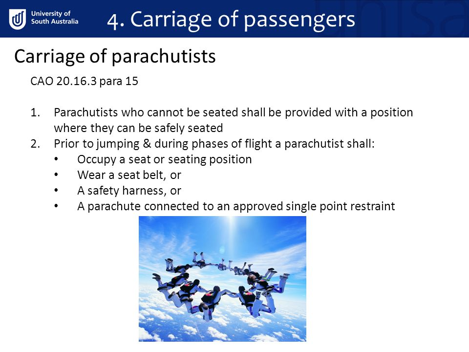 4. Carriage of passengers