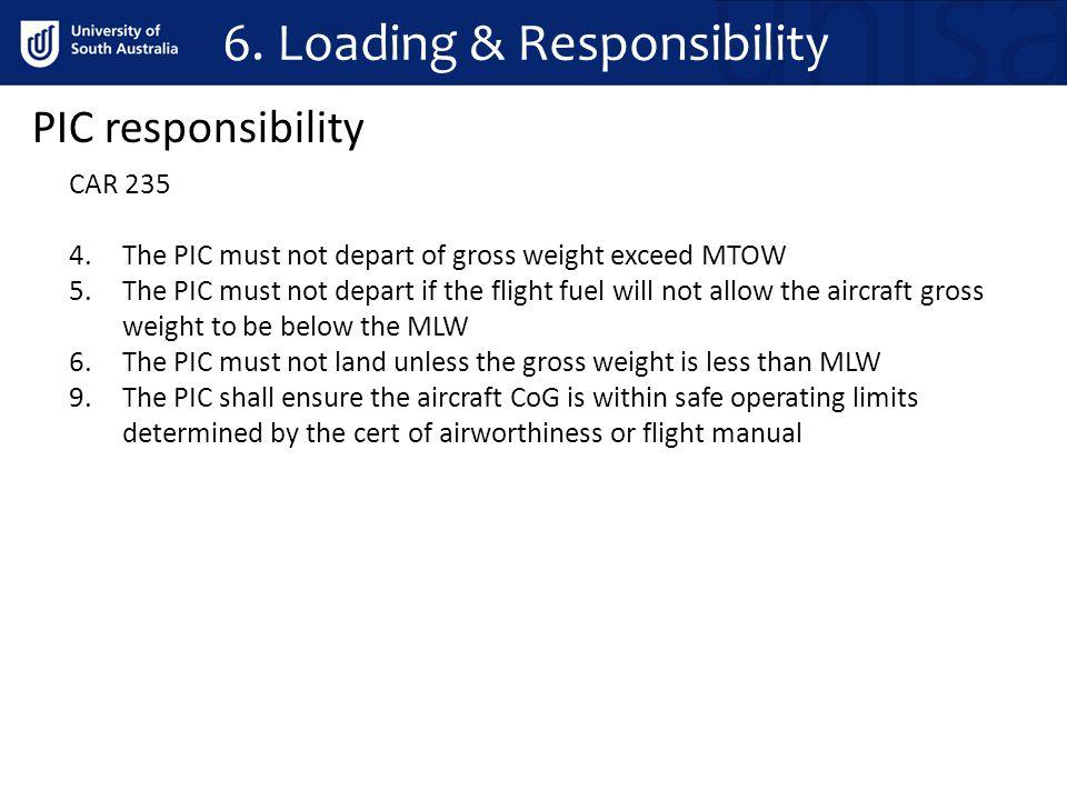 6. Loading & Responsibility