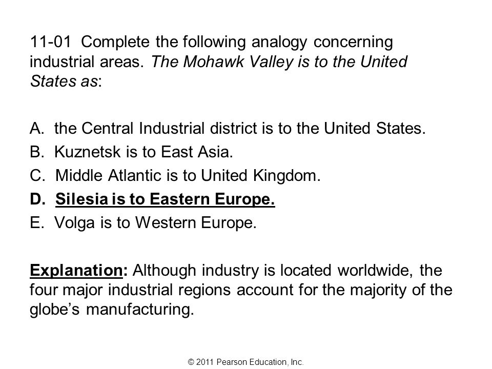 the Central Industrial district is to the United States.