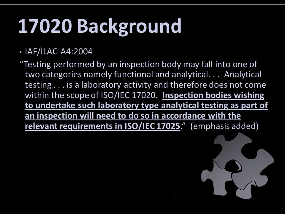 17020 Background IAF/ILAC-A4:2004