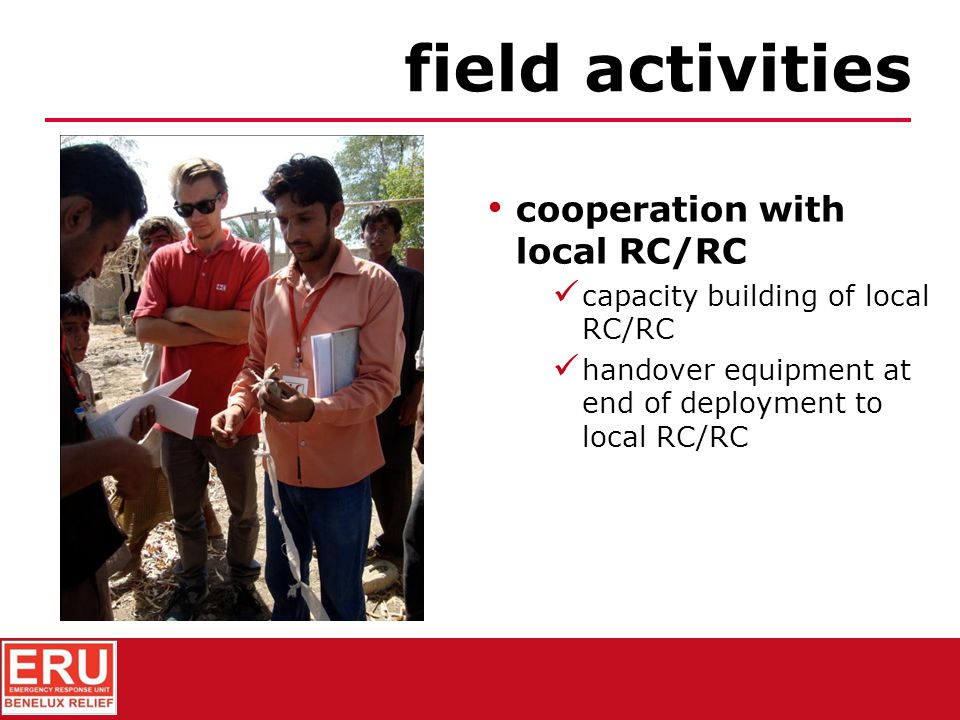 field activities cooperation with local RC/RC