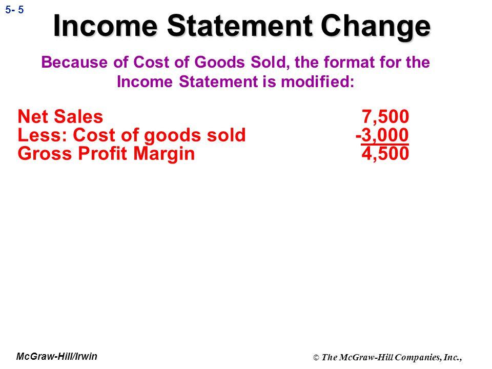 Income Statement Change
