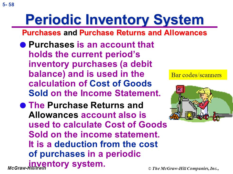 Periodic Inventory System Purchases and Purchase Returns and Allowances