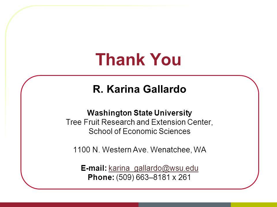 Thank You R. Karina Gallardo