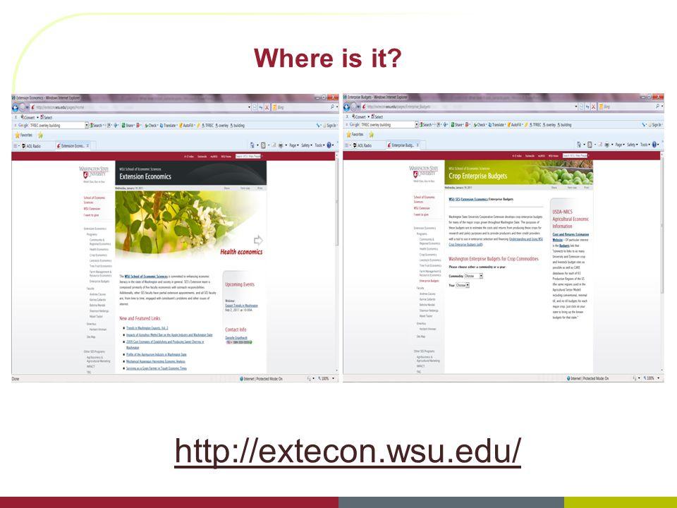 Where is it http://extecon.wsu.edu/