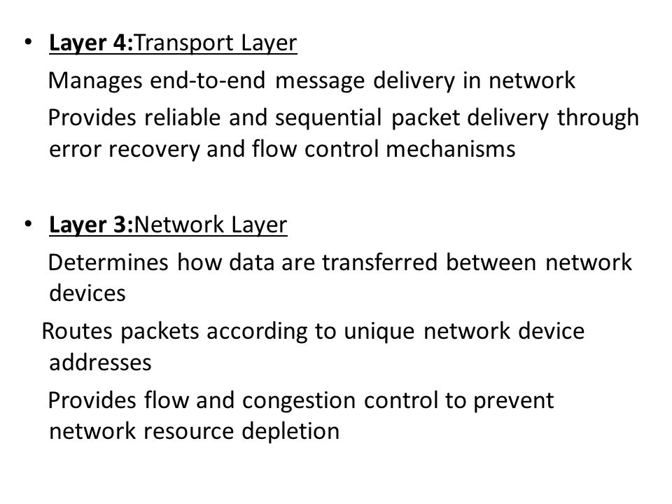 Layer 4:Transport Layer