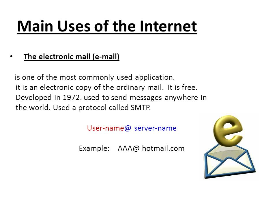 Main Uses of the Internet