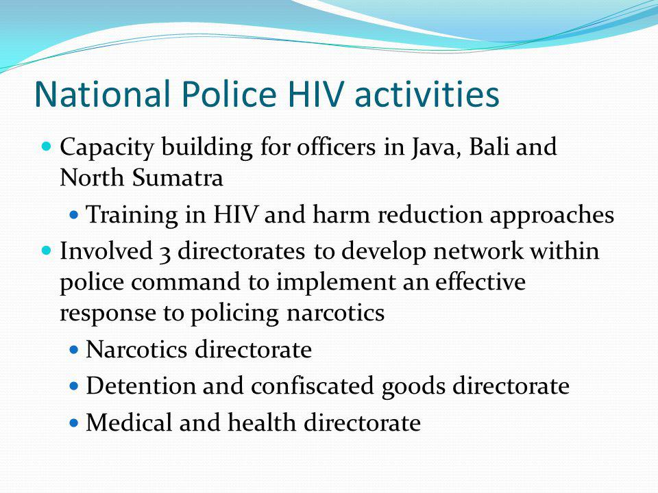 National Police HIV activities