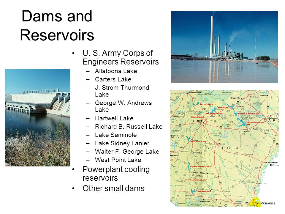 Dams and Reservoirs U. S. Army Corps of Engineers Reservoirs