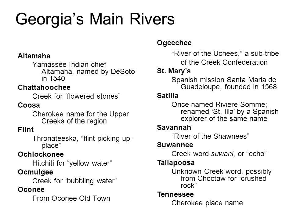 Georgia's Main Rivers Ogeechee