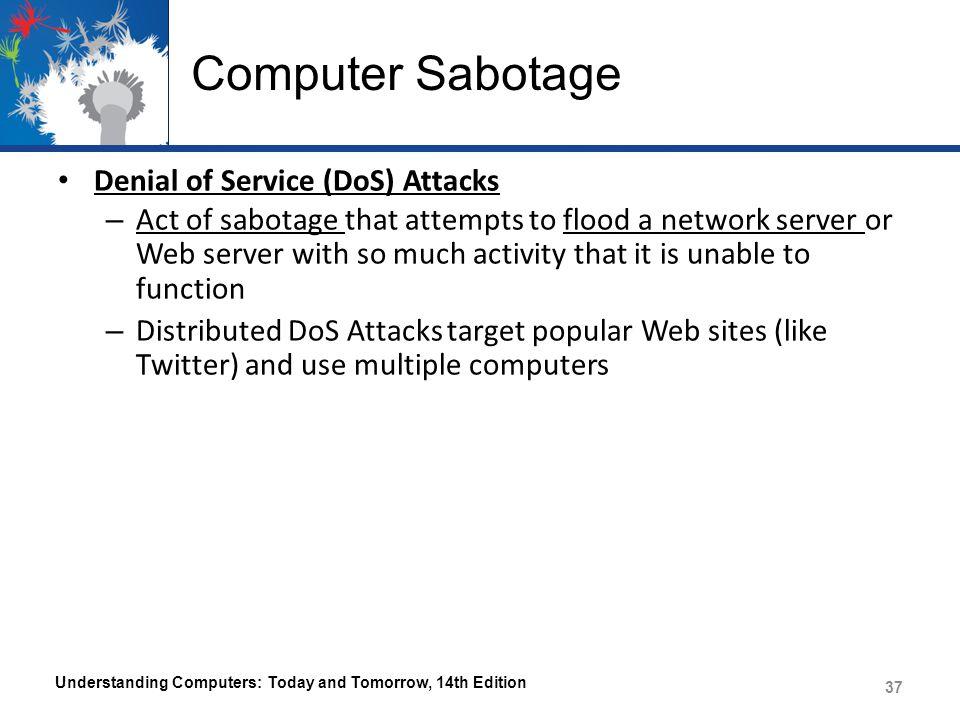 Computer Sabotage Denial of Service (DoS) Attacks