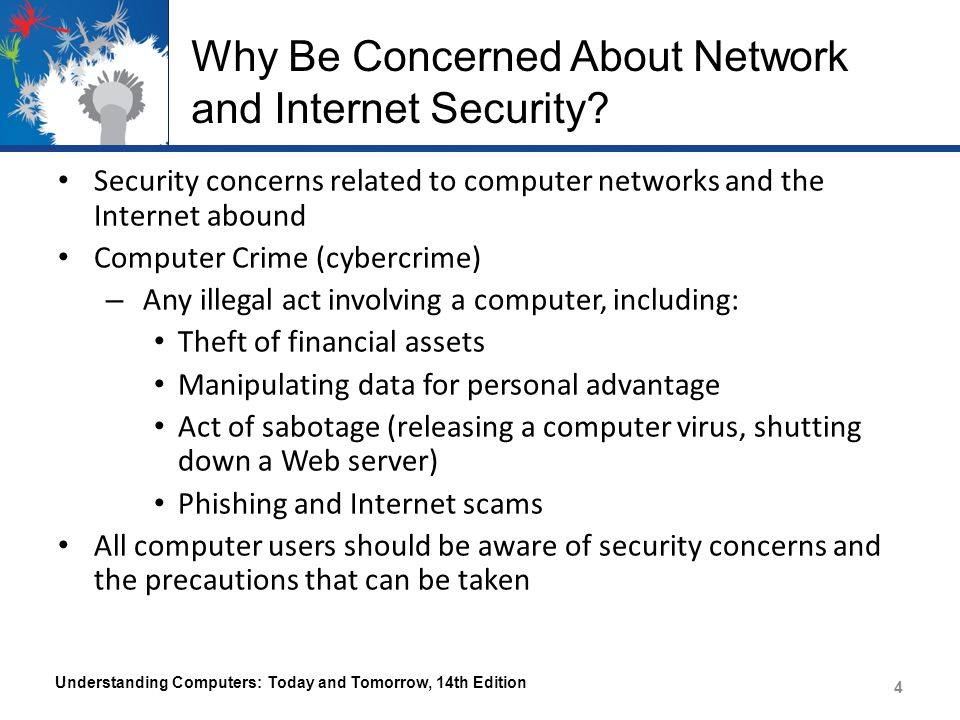 Why Be Concerned About Network and Internet Security