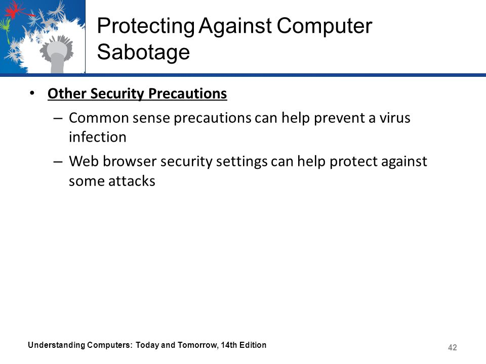 Protecting Against Computer Sabotage