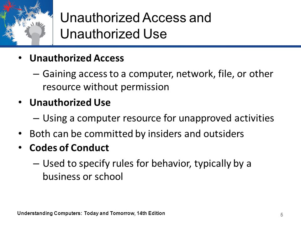 Unauthorized Access and Unauthorized Use