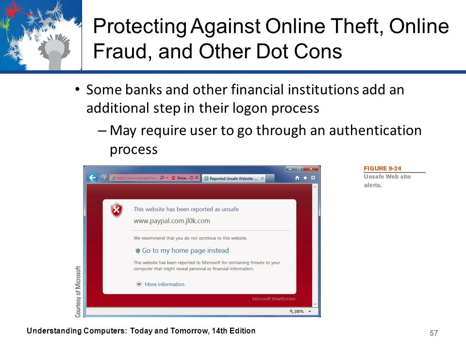 Protecting Against Online Theft, Online Fraud, and Other Dot Cons
