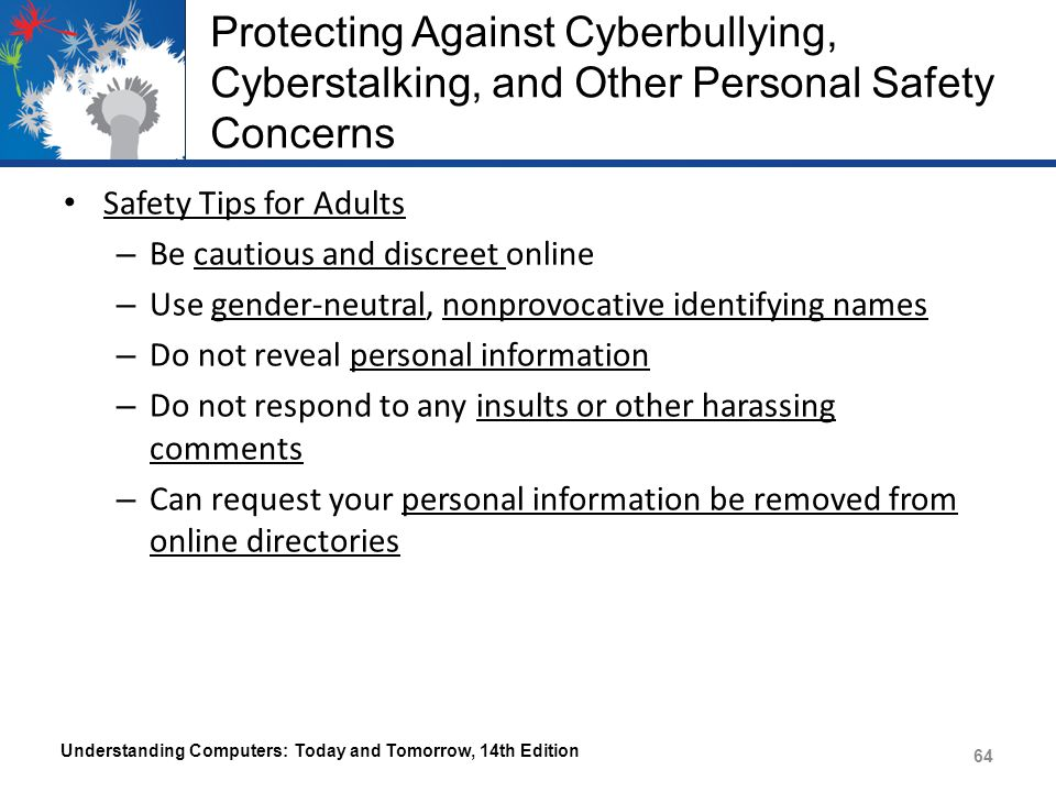 Protecting Against Cyberbullying, Cyberstalking, and Other Personal Safety Concerns