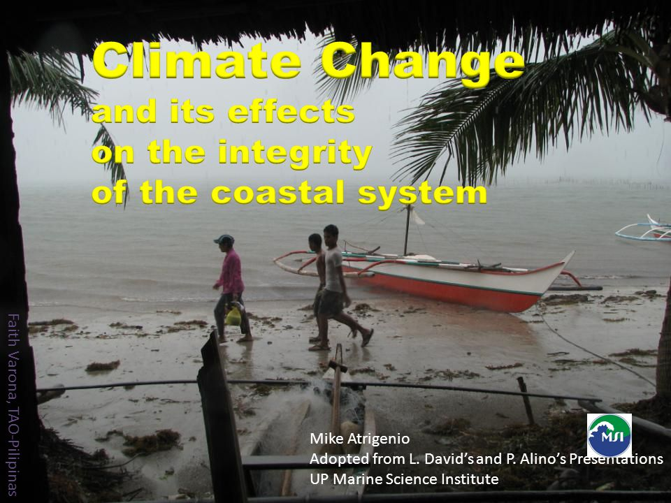 Climate Change and its effects on the integrity of the coastal system