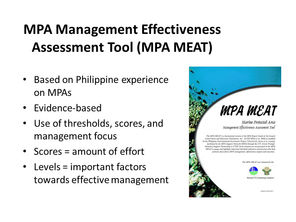 MPA Management Effectiveness Assessment Tool (MPA MEAT)
