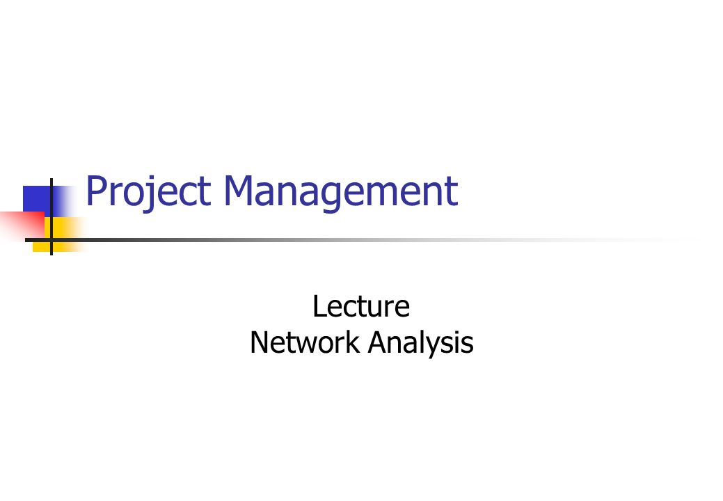 Lecture Network Analysis