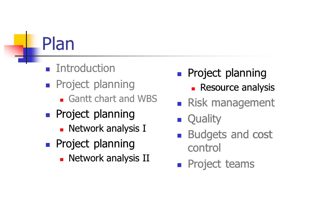 Plan Project planning Introduction Project planning Project planning