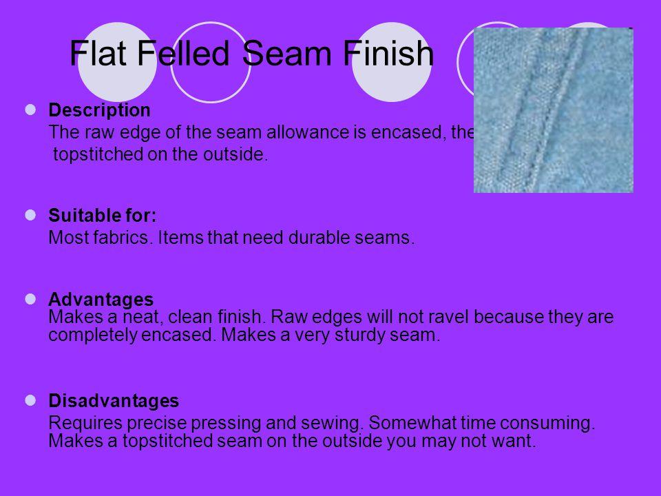 Flat Felled Seam Finish