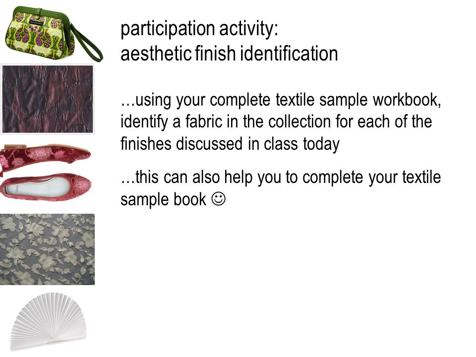 participation activity: aesthetic finish identification