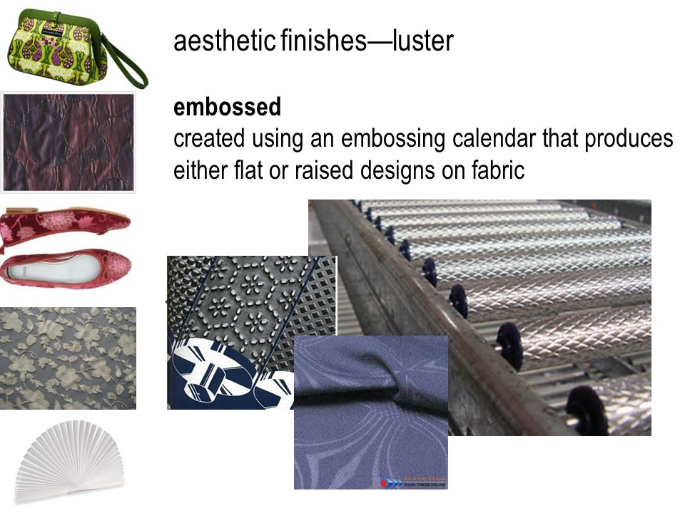 aesthetic finishes—luster