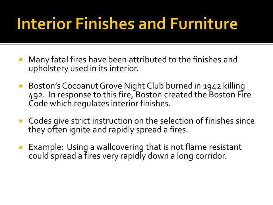 Interior Finishes and Furniture