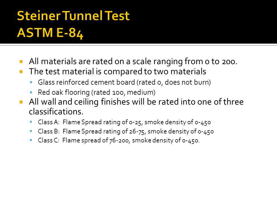 Steiner Tunnel Test ASTM E-84