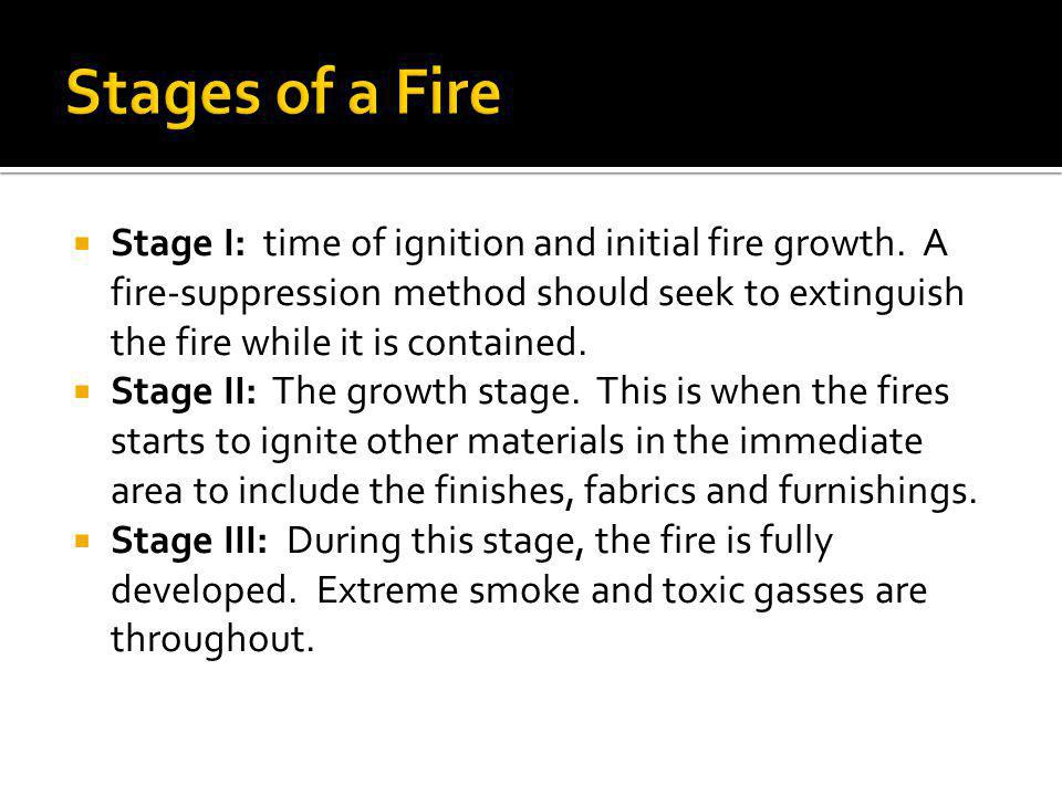 Stages of a Fire