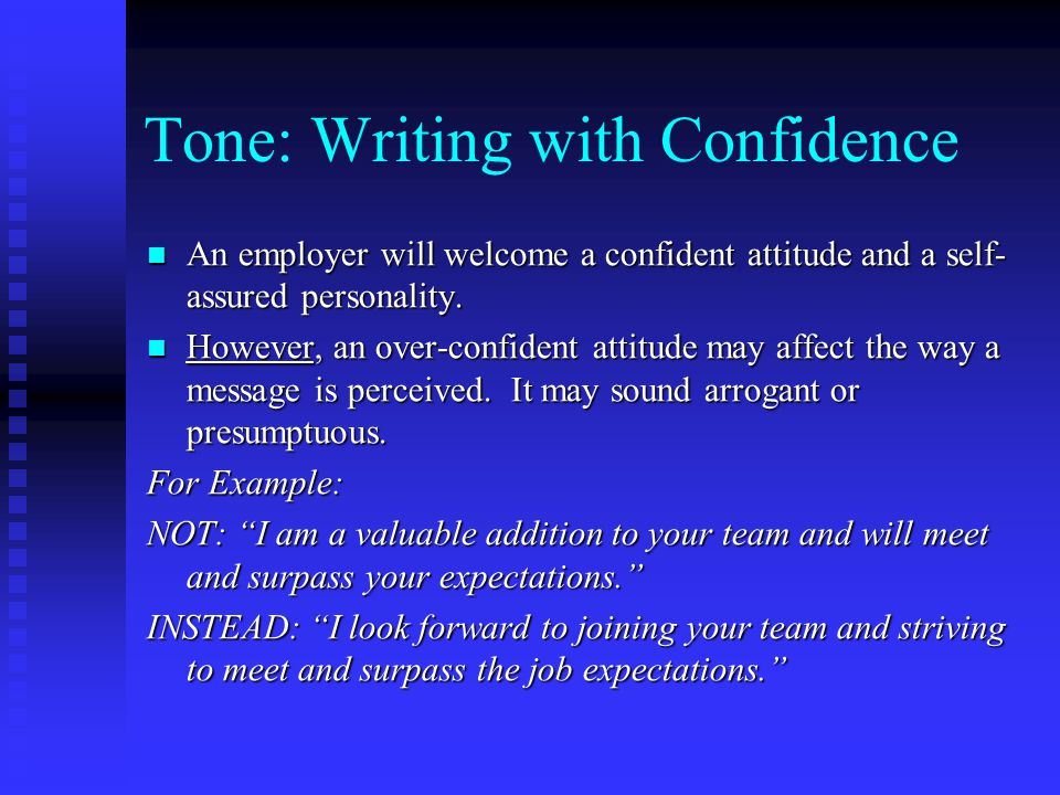 Tone: Writing with Confidence