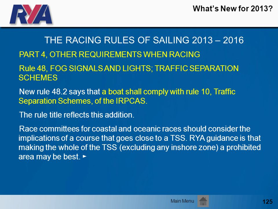 THE RACING RULES OF SAILING 2013 – 2016