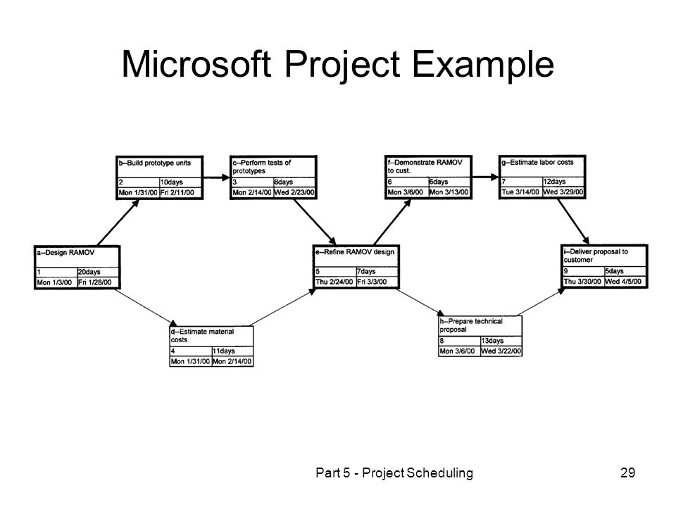 Microsoft Project Example